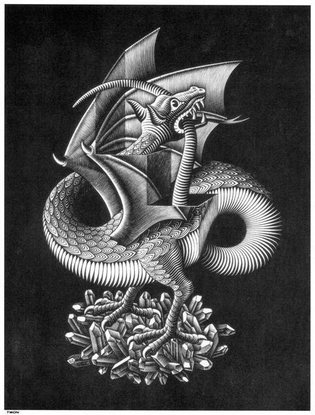 Escher, Dragon, 1952