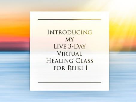 Live 3-day Virtual Reiki 1 Class