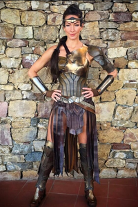 Jolie Lennon playing an Amazonia warrior in Wonder Woman.
