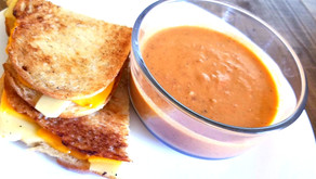 Roasted Tomato Soup & Vegan Grilled Cheese