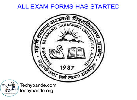 MDSU Ajmer All Exam Forms