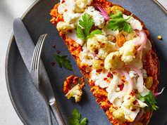 Cauliflower Tartine With Romesco Sauce