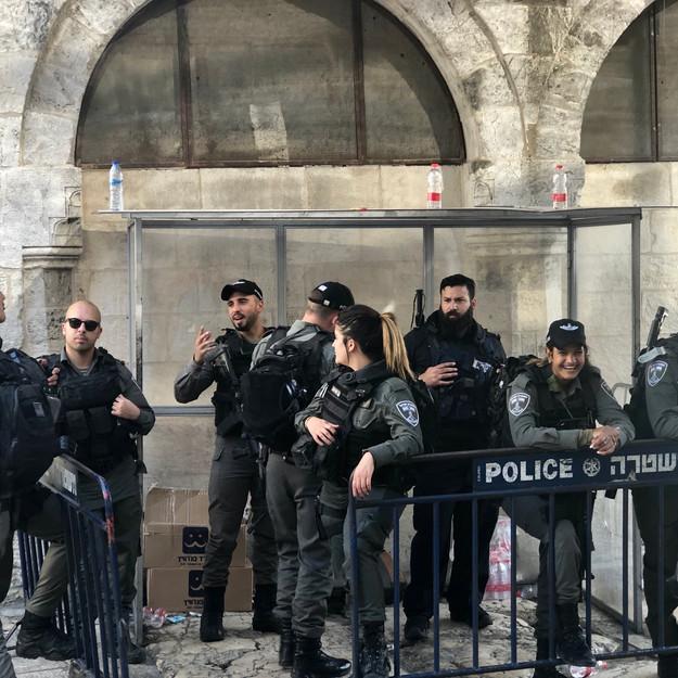 Israeli Police Forces in Old City Jerusalem
