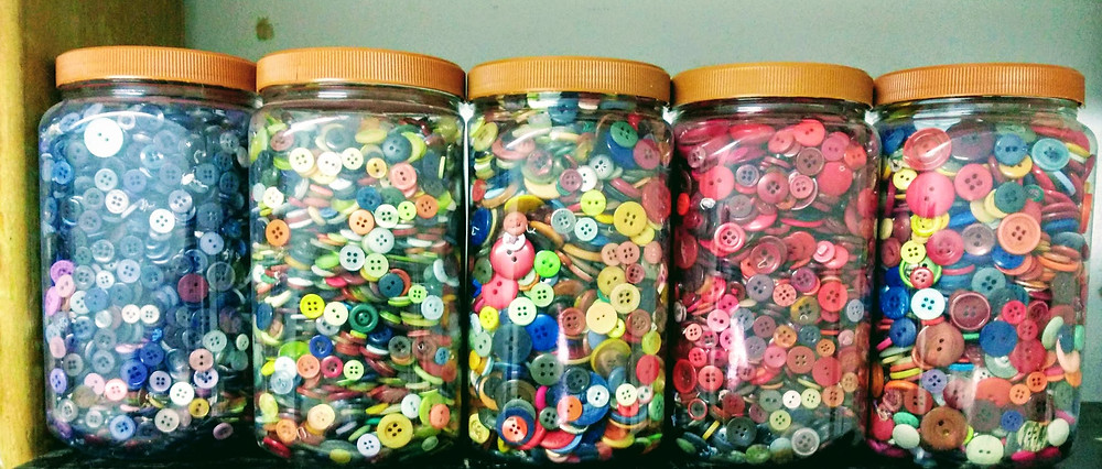Bottles of Buttons