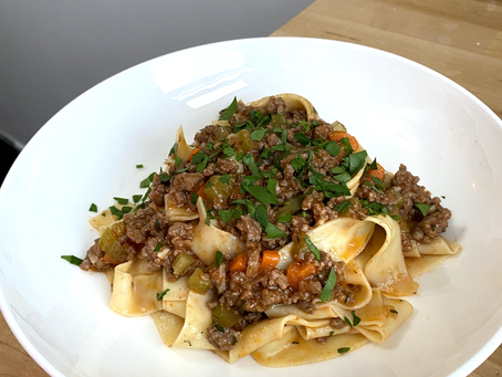 Homemade Pasta Recipe - Pappardelle Bolognese
