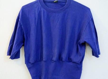 Royal Blue Upcycled T Shirt Top