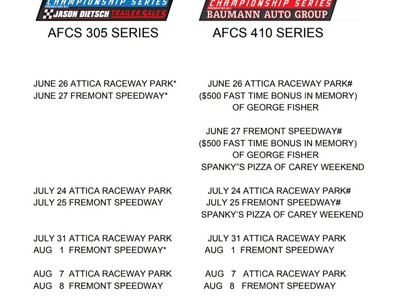 2020 AFCS 410 and 305  Schedule
