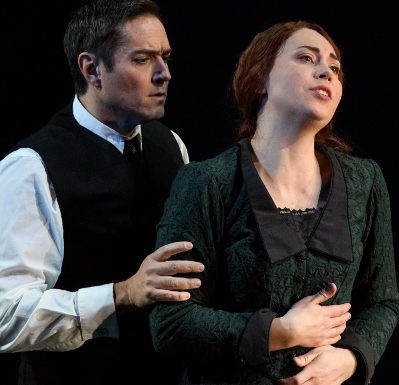 Opera North Katya Kabanova - Harold Meers as Boris and Stephanie Corley as Katya. credit Jane Hobson