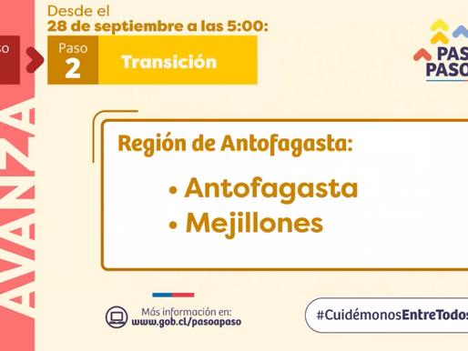 ANTOFAGASTA Y MEJILLONES SALEN DE CUARENTENA ESTE LUNES 28 A LAS 5:00 AM