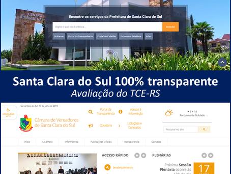 TCE avalia portais do município como 100% transparentes