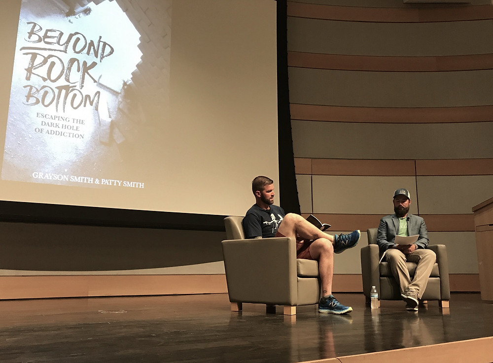 Legacy Alumni, Grayson Smith reads an excerpt from his new book Beyond Rock Bottom