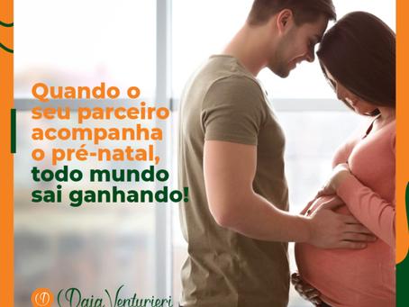 Quando o seu parceiro acompanha o pré-natal, todo mundo sai ganhando!