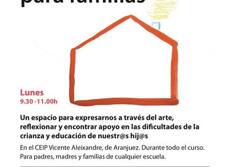 Arteterapia para familias en el Vicente Aleixandre