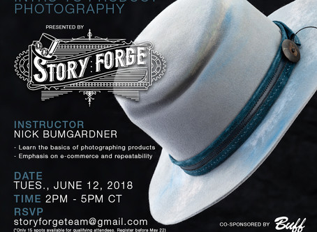 Intro to Product Photography Workshop - June 12