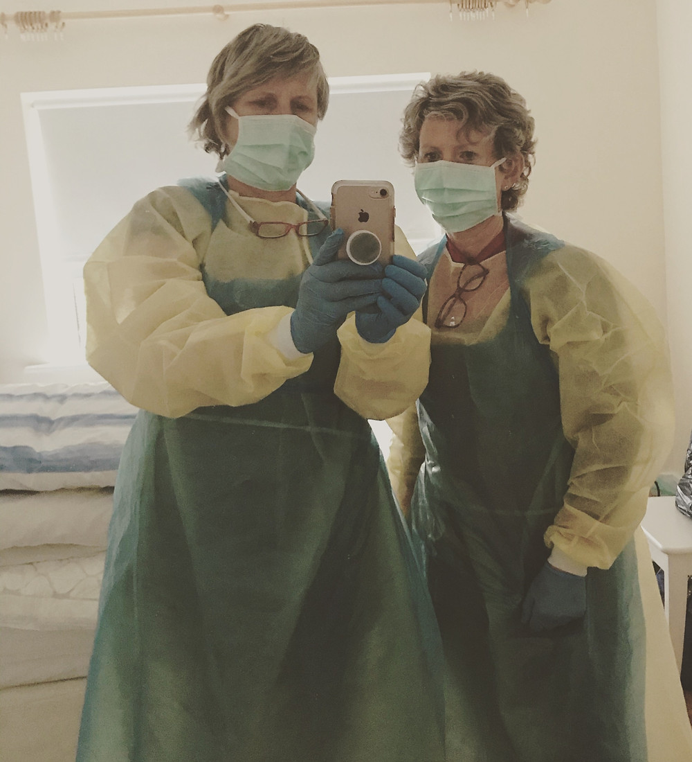 Midwives at work during pandemic