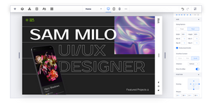 UX designer portfolio being built on the Editor X platform.