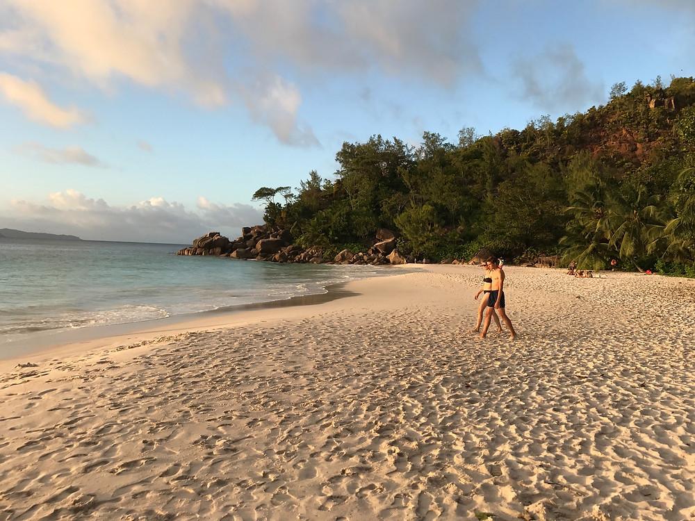 Anse Georgette. Beach. Seychelles.