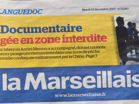 12/12/2017 Un article dans la Marseillaise Bài trên tờ báo La Marseillaise