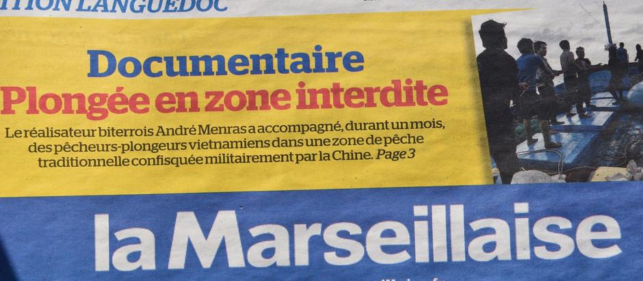 12/12/2017 Un article dans la Marseillaise