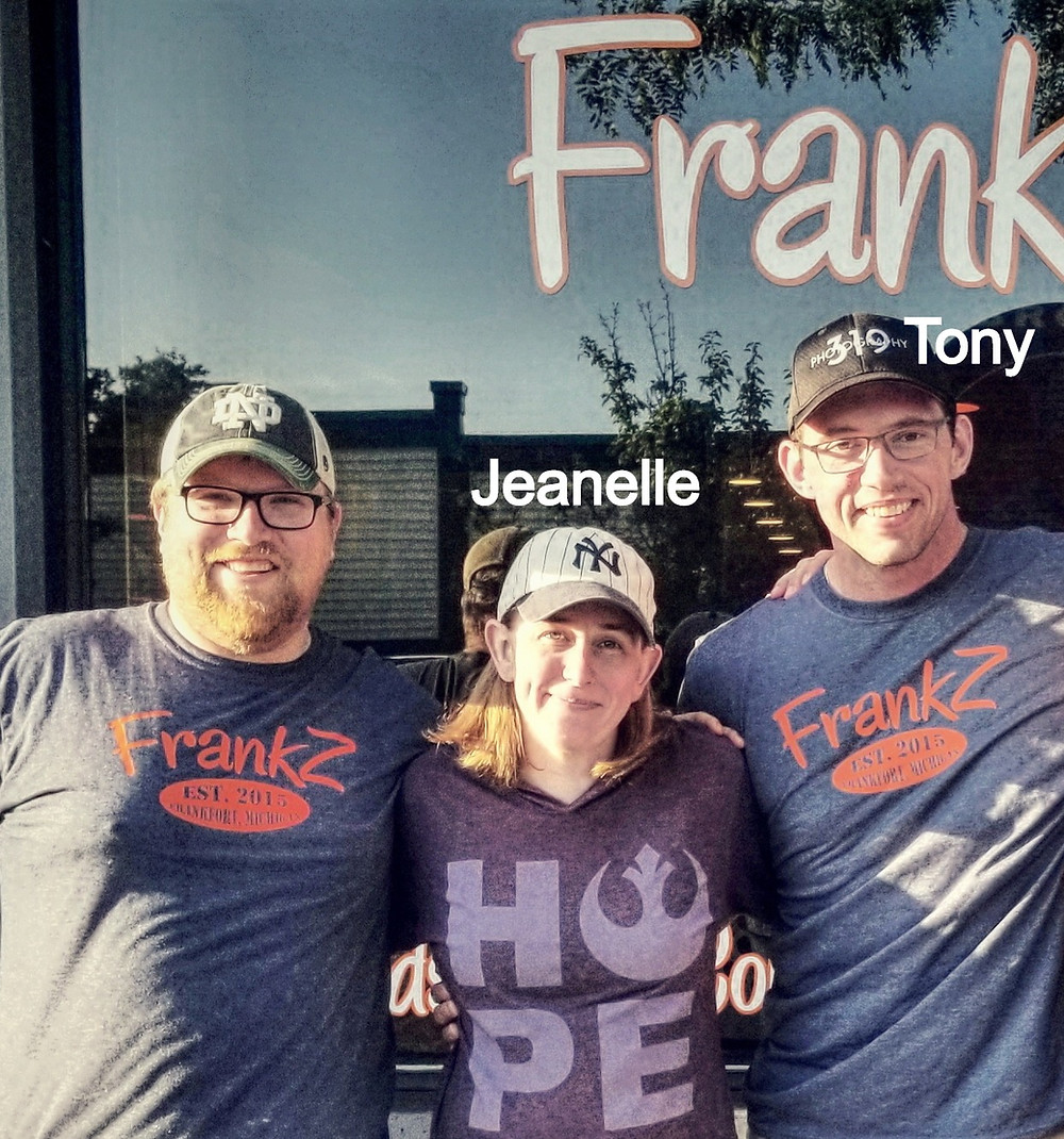 Tony and Jeanelle Hebert with FrankZ Owner.