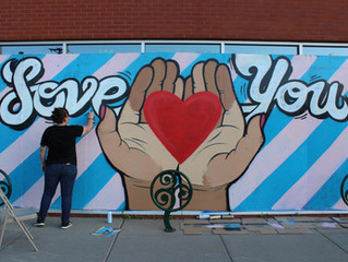 MEDUSA HELPS CREATE MURALS OF LOVE & HEALING