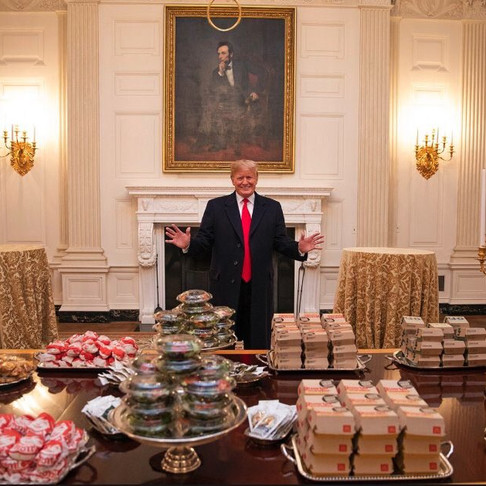 Quarter Pounders and 6 Pc Nuggets aren't fine cuisine? Don't tell Donald Trump.
