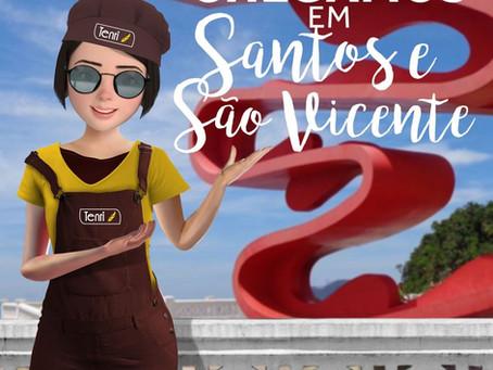 CHEGAMOS EM SANTOS E SÃO VICENTE!