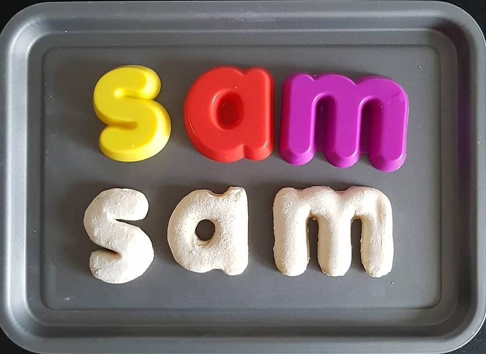 the name sam baked from saltdough