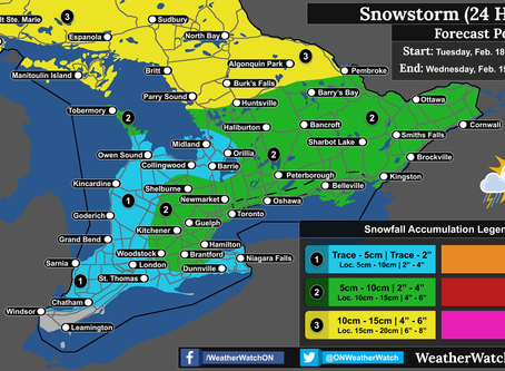 Snowstorm to Impact Portions of Ontario