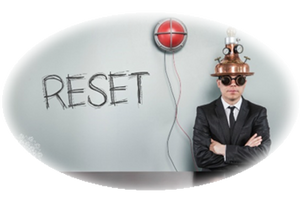In a hard reset, I remove myself from society with limitted interatction and zero distractions and stress for two weeks.