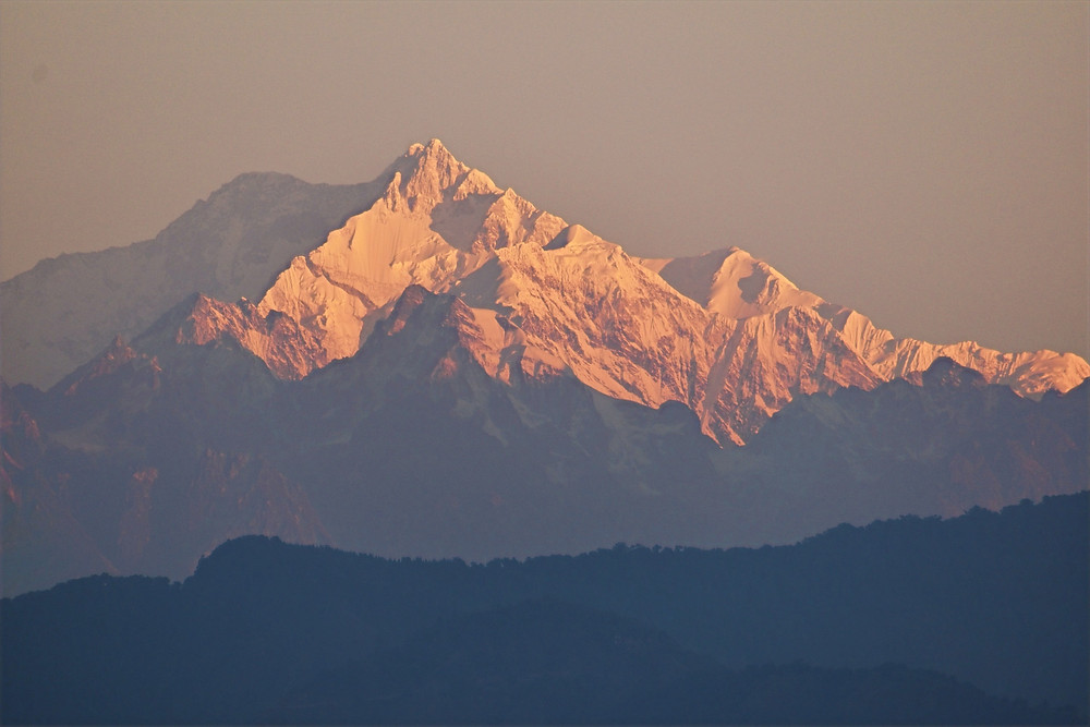 Kanchenjunga, early morning view from Kalimpong, West Bengal, India