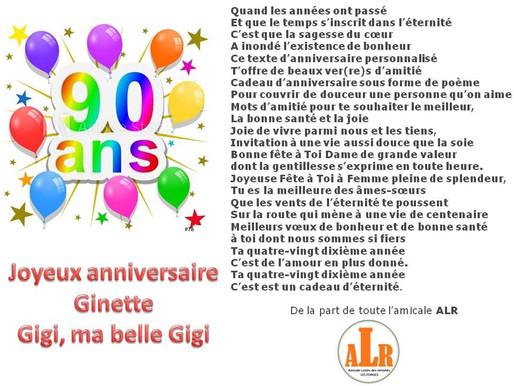 Joyeux anniversaire Belle Gigi