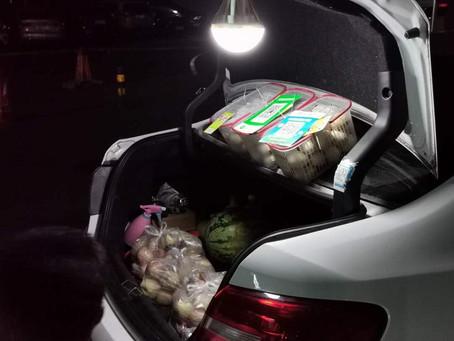 Beijing's car trunk  economy....