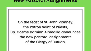 new pastoral assignments announced