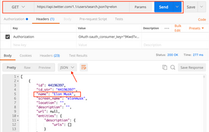 How to make calls to Twitter APIs using Postman client?