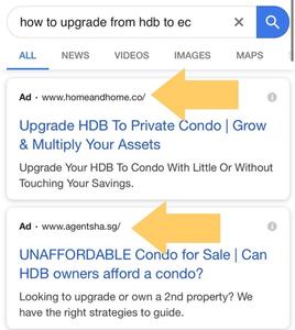 google ppc real estate