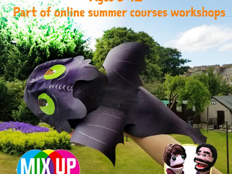 SUMMER ONLINE: Make a Toothless Puppet