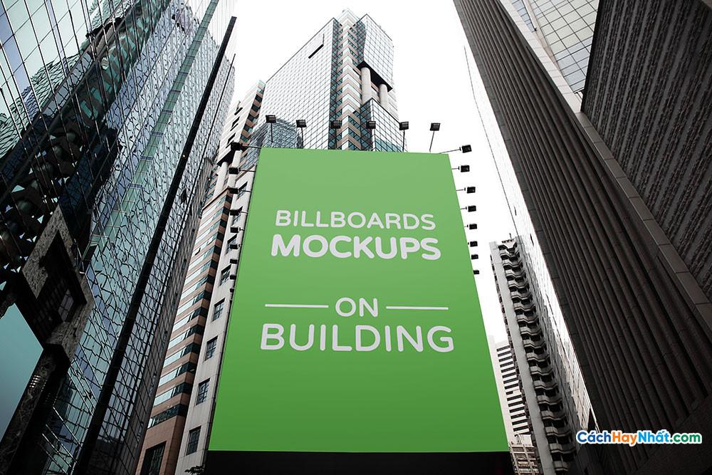 Billboards Mockup on Building PSD