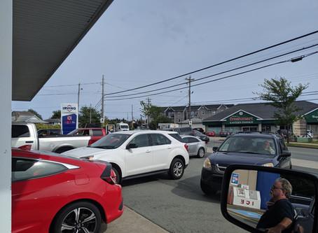 People rush for the pump as hurricane Dorian heads for Nova Scotia tomorrow