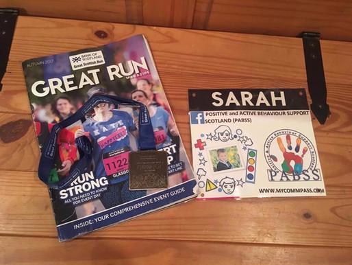 Sarah's run for PABSS