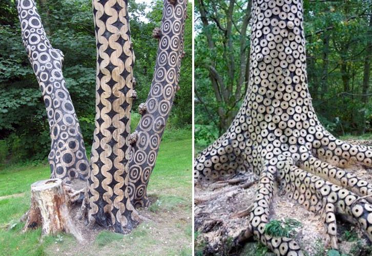 forêts arbres sculptés