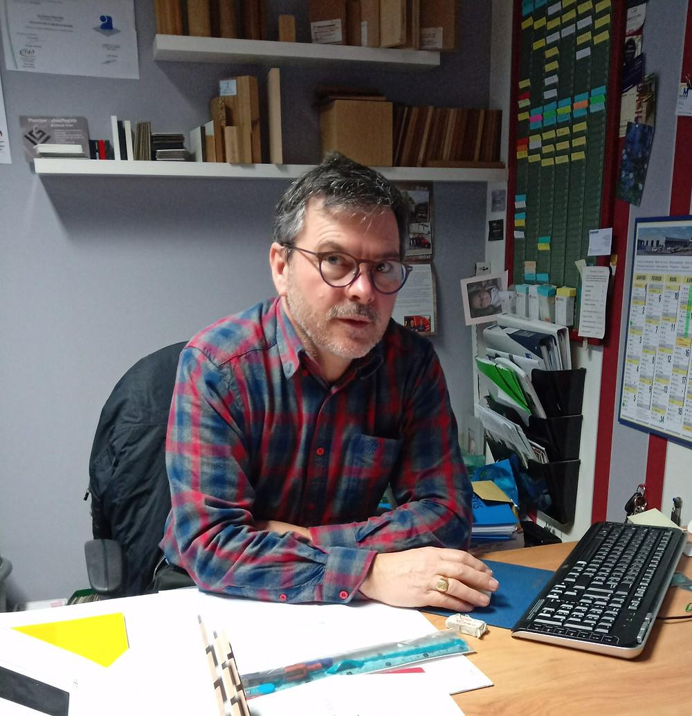 Dominique Porcher, Ebéniste agenceur basé à Vern-sur Seiche en Ille et Vilaine, Rennes. Aménagement intérieur, mobilier, bois,