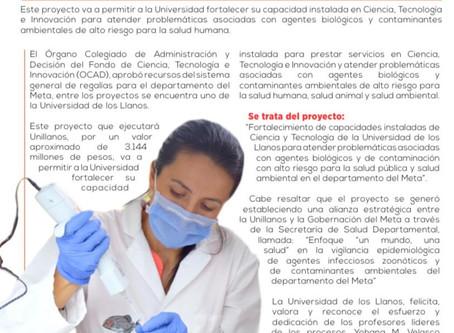 OCAD aprobó más de 3000 millones a Unillanos