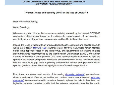 WOMEN, PEACE AND SECURITY (WPS) IN THE FACE OF COVID-19