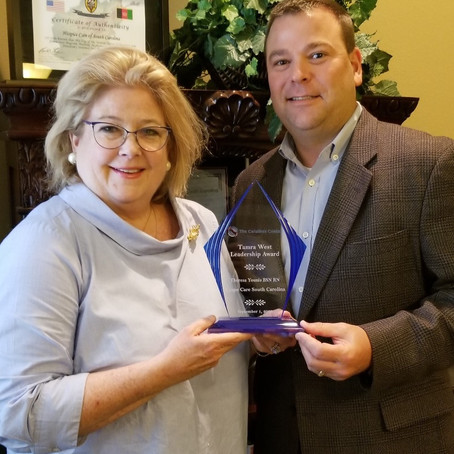 Agape Care's Theresa Younis Receives 2020 Tamra West Leadership Award
