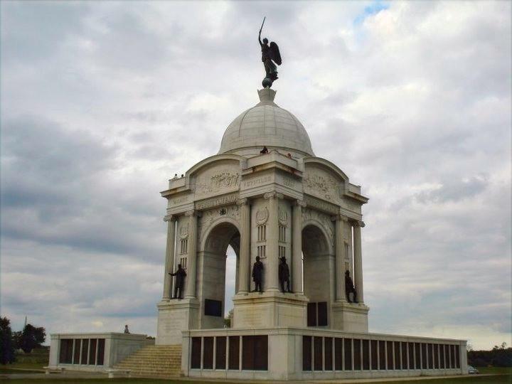 Memorial to Pennsylvania Regiments at the Battle of Gettysburg