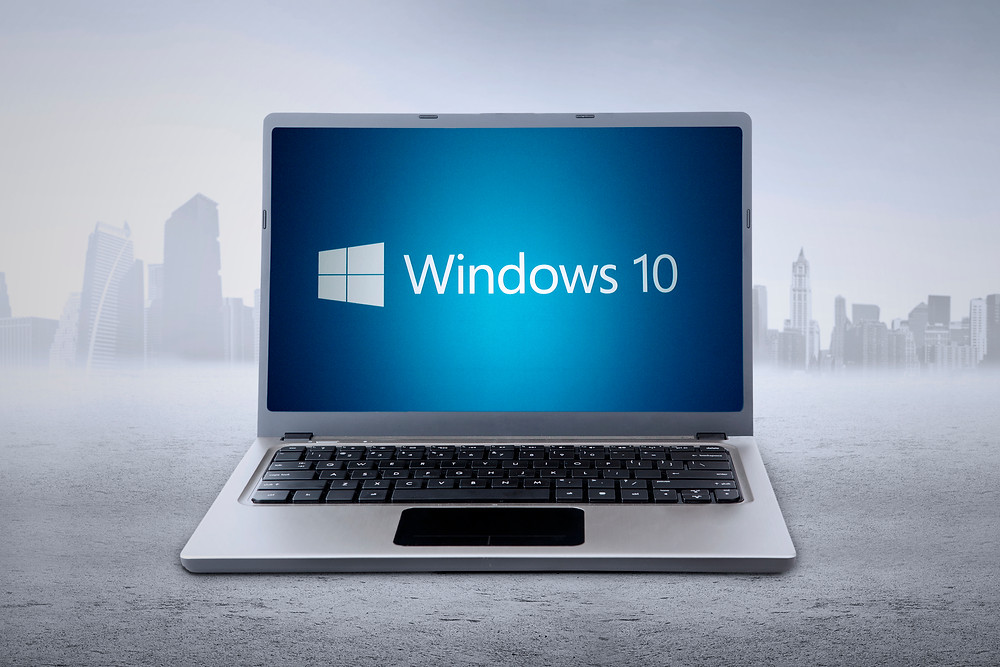 laptop with Windows 10