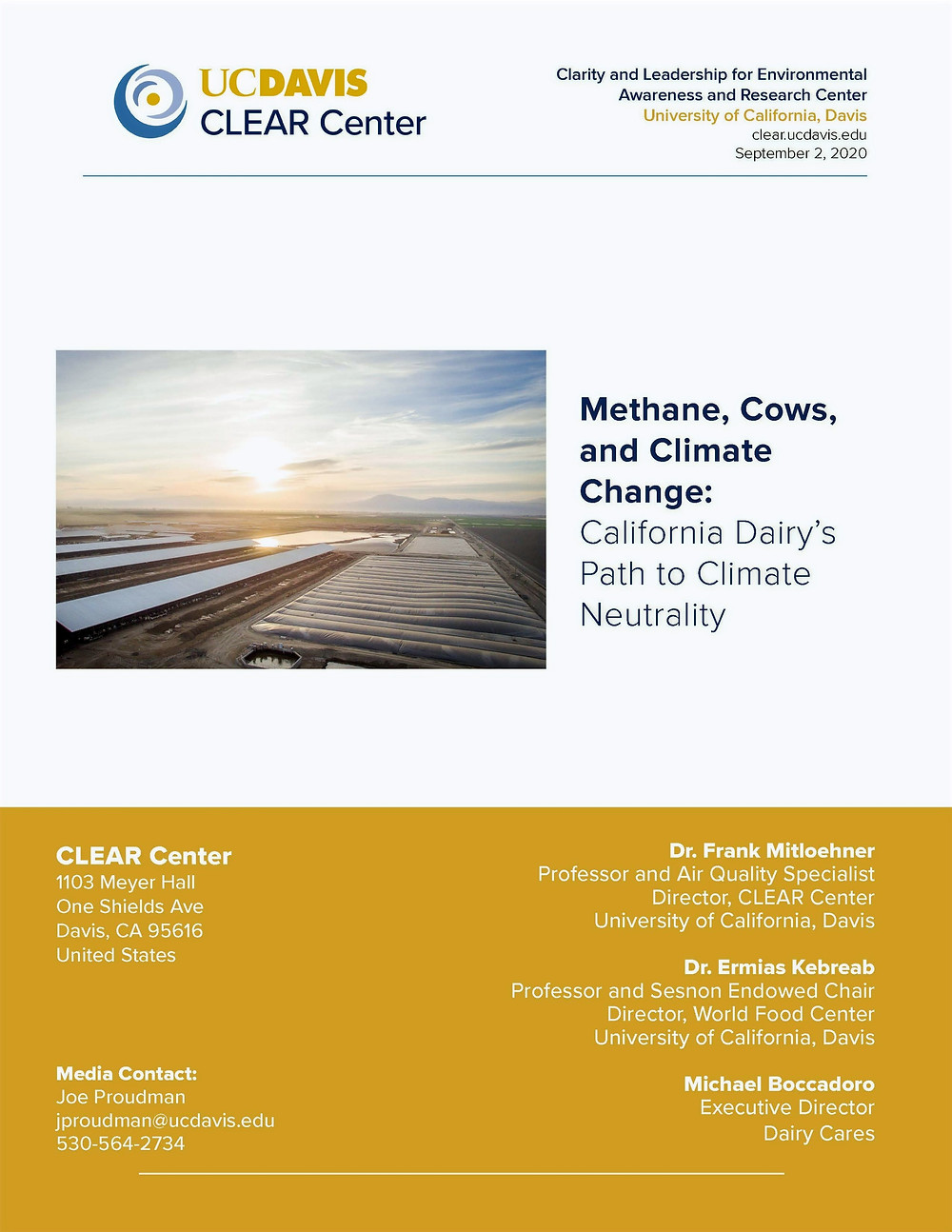 White paper about methane, cows, and climate change