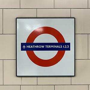 Heathrow Terminals 1, 2, 3 plaque for London Underground