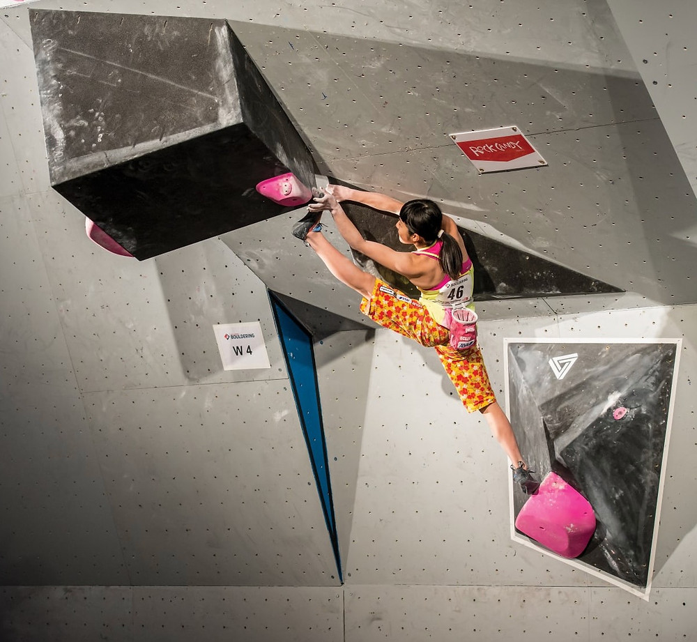 Climbing.com: Ashima Shiraishi at the Climbing - Ashima Shiraishi at the Open Bouldering Nationals 2017 Open Bouldering Nationals 2017